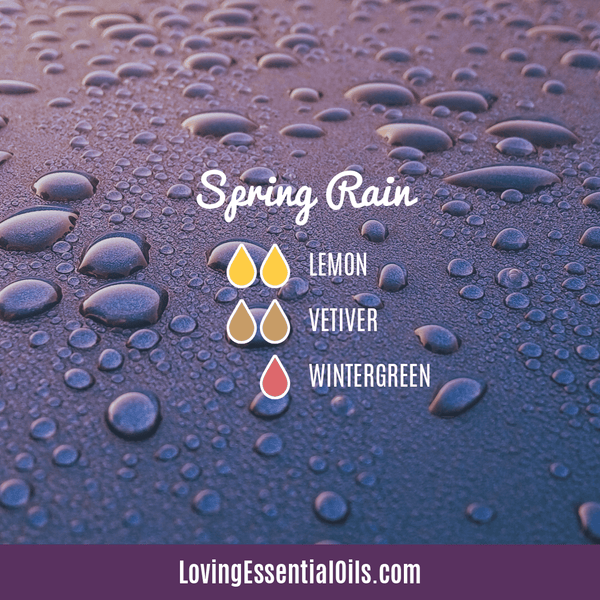Vetiver Diffuser Blends - Clear Mind Chatter & Relax! by Loving Essential Oils | Spring Rain with lemon, vetiver, and wintergreen