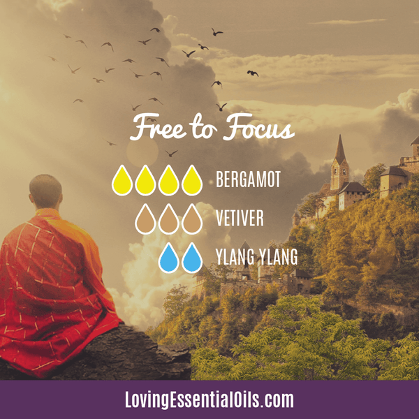 Vetiver Essential Oil Diffuser Blend - Free To Focus - EO Spotlight by Loving Essential Oils
