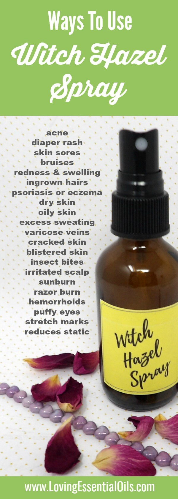 Witch Hazel Spray For Healthy Skin
