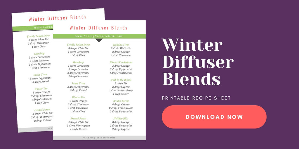 Winter Essential Oil Blends by Loving Essential Oils free printable
