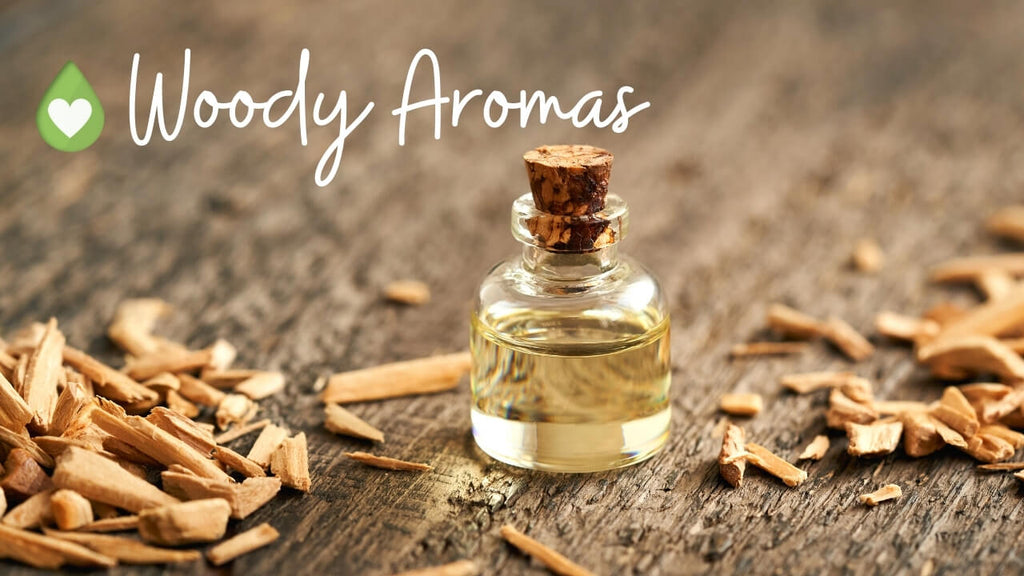 Woody Aromas with essential oil cheat sheet by Loving Essential Oils