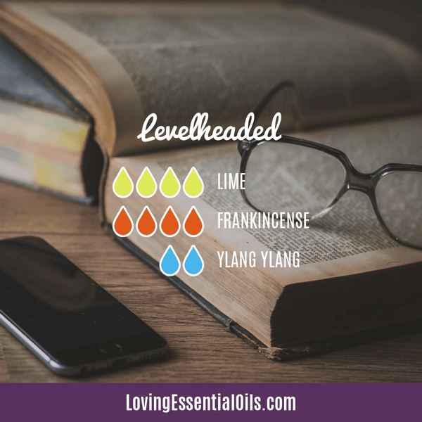 Ylang Ylang Essential Oil in Diffuser by Loving Essential Oils - Levelheaded with lime, frankincense, and ylang ylang