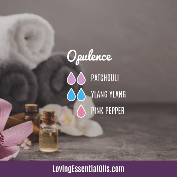 Ylang Ylang Diffuser Blends - Encourages Euphoria & Joy! by Loving Essential Oils | Opulence with patchouli, ylang ylang, and pink pepper
