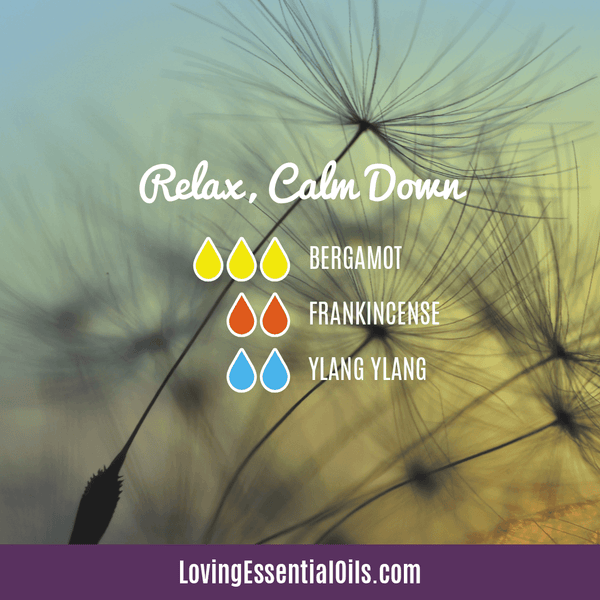Essential Oil Blend with Ylang Ylang by Loving Essential Oils | Relax, Calm Down with bergamot, frankincense, and ylang ylang