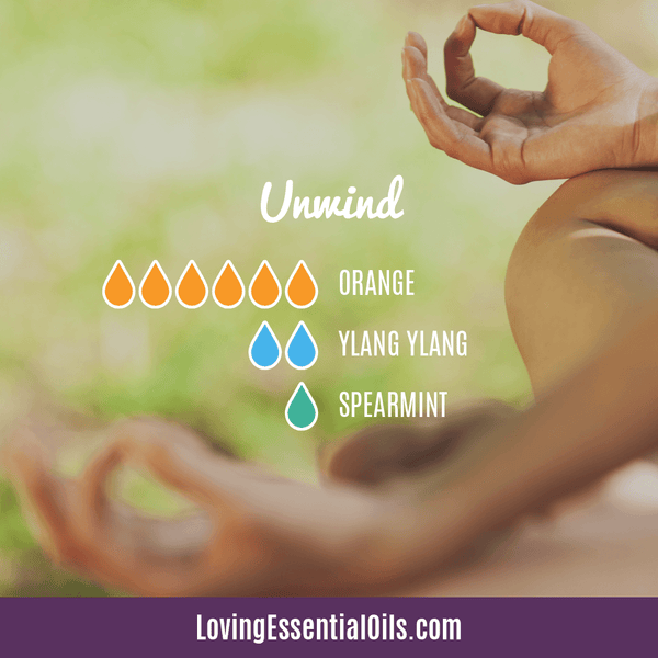 Ylang Ylang Essential Oil Recipes by Loving Essential Oils | Unwind with orange, ylang ylang, and spearmint