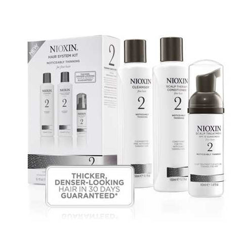 Nioxin System 2 Starter Kit for Fine Natural Noticeably Thinning Hair