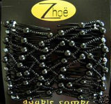 Zhoe Black Double Combs Item #10052