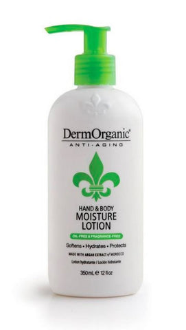 DermOrganic Hand & Body Moisture Lotion 12 oz