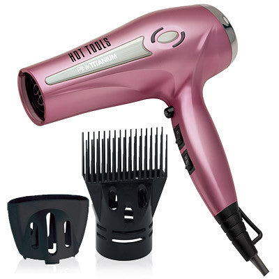 Hot Tools Pink Titanium Ionic Professional Hair Dryer HPK01