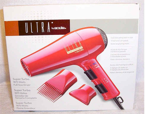 Andis Model MI-2 (#80305) Ultra Super Turbo 1875 Watt Full Size Hair Dryer