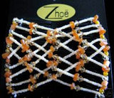 Zhoe Neutral w/ Beige Beads Double Combs Item #10038