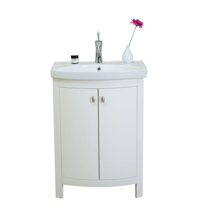 Eviva Evvn508 24wh Jersey 24 White Transitional Bathroom Vanity