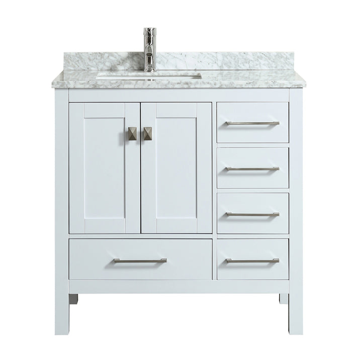 Eviva Tvn414 36x18wh London 36 Transitional White Bathroom Vanity
