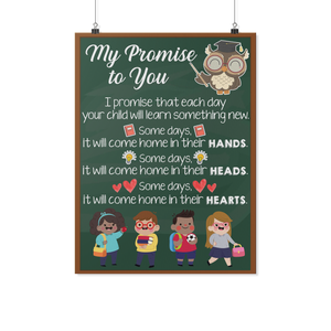 My Promise to You Teacher Poster