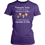 Memory of Kids Kindergarten Teacher T-shirt