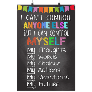 Control Myself Teacher Poster