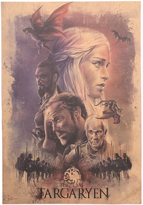 The Last Targaryen GOT Vintage Kraft Poster