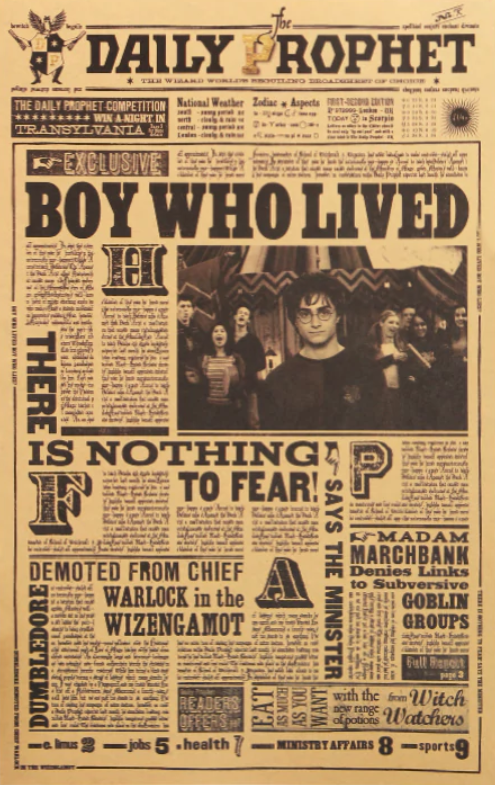 The Boy Who Lived Kraft Poster