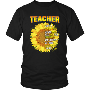 She's a Sunflower Teacher T-shirt
