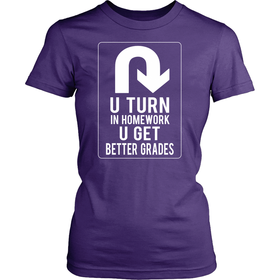 U-turn Teacher T-shirt