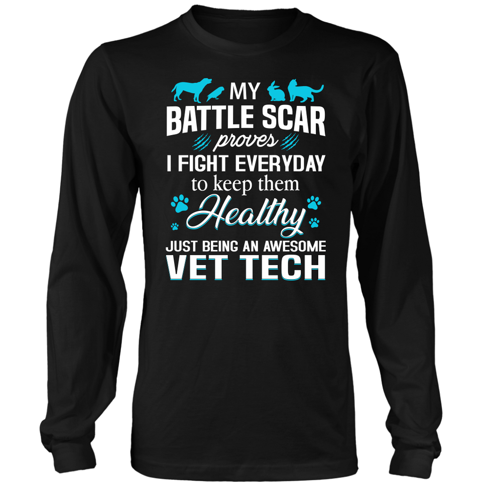 Battle Scar Vet Tech T-shirt