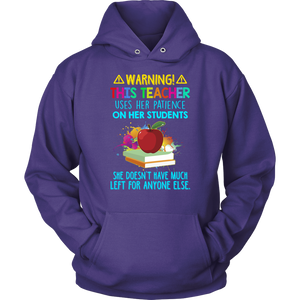 Warning! Teacher T-shirt