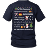 Winter Classroom Teacher T-shirt (Back)