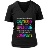 Box of Crayons Teacher T-shirt