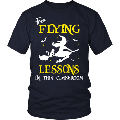 Free Flying Lessons Teacher T-shirt