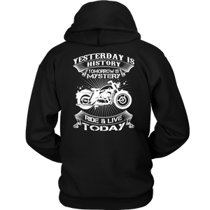 Ride & Live Today Biker T-Shirt