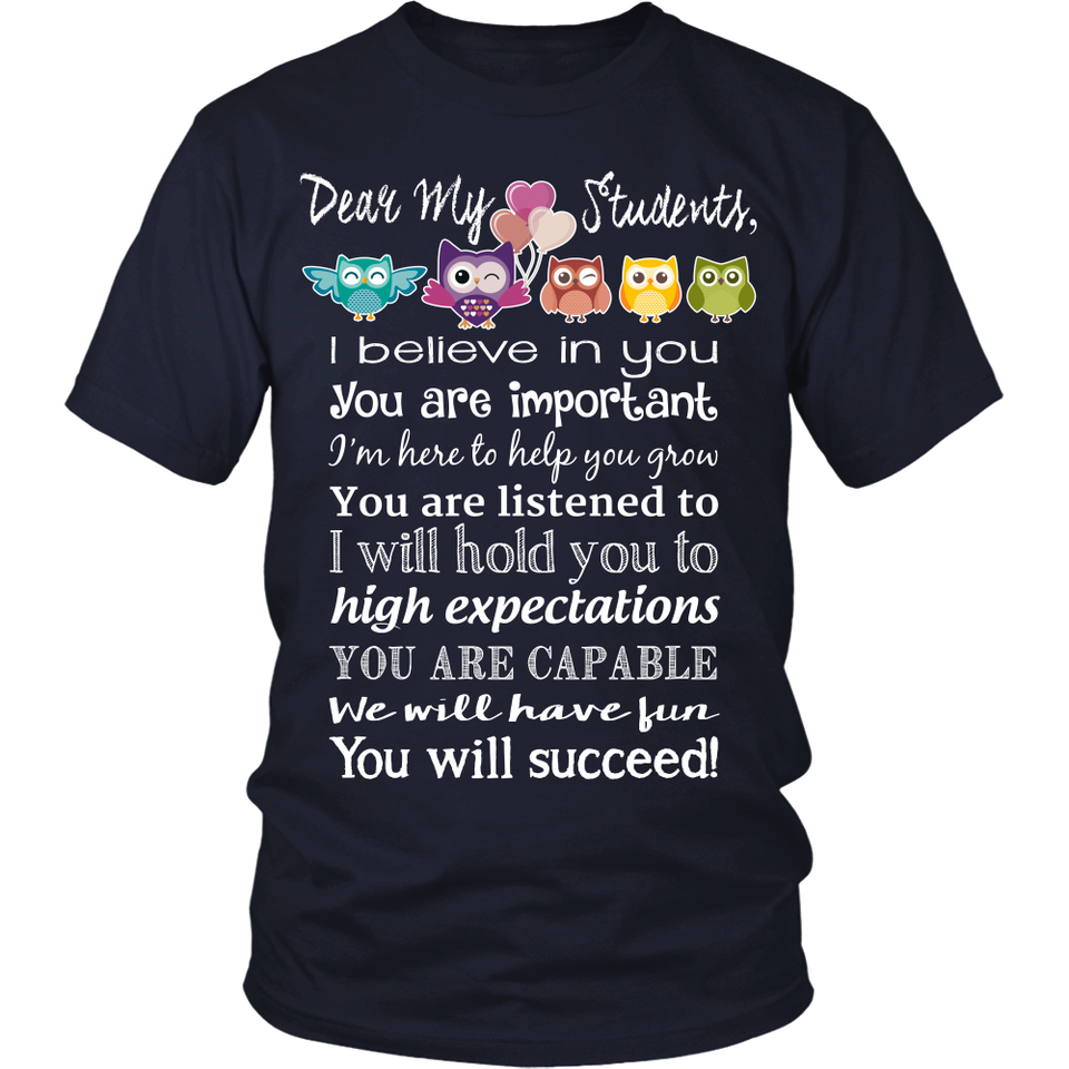 Dear My Students Teacher T-Shirt