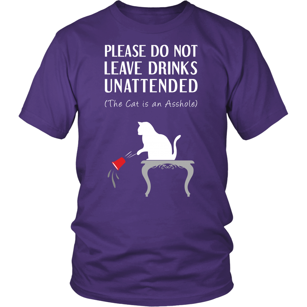 Leave Drinks Cat T-Shirt/Hoodie/Long sleeves/V-Neck