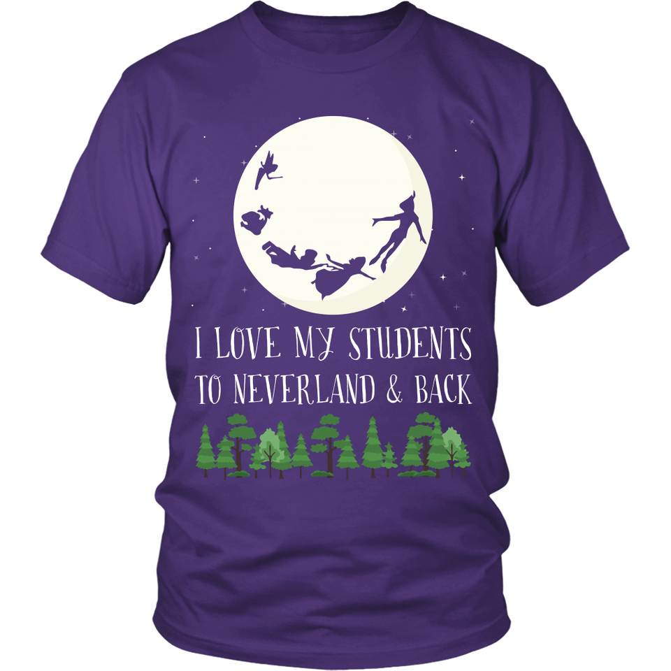 To Neverland and Back Teacher T-Shirt