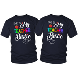 She is My Teacher Bestie Teacher T-shirt