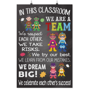 Hero Classroom Teacher Poster