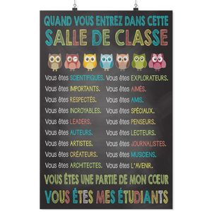 When You Enter This Classroom French Teacher Poster