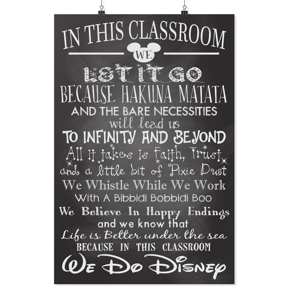 In This Classroom We Do Disney Teacher Poster