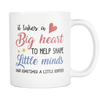 Big Heart White Coffee mug