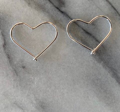 Heart Earring (Small) - Silver (TS747b)