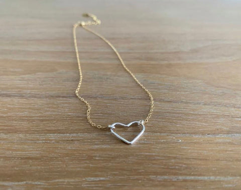 Heart Necklace - Silver (TS751)