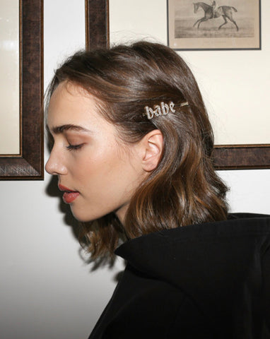 Brunette The Label Hair Clips