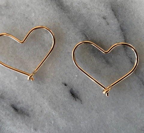 Heart Earring (Small) - Gold Filled (TS747)