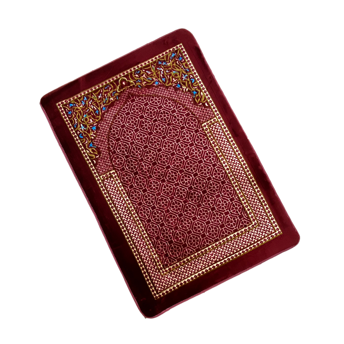 SEJADAH (RED) EMBOSS NABAWI-VARIOUS 80X115