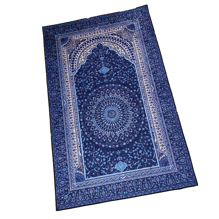 SEJADAH (BLUE) MULTAN 3D SHINY