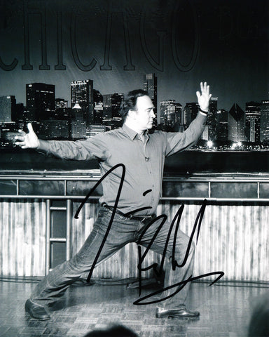 JIM BELUSHI SIGNED CHICAGO BOARD OF COMEDY 8X10 PHOTO