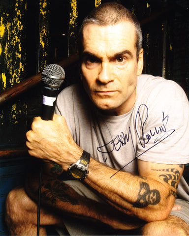 HENRY ROLLINS SIGNED BLACK FLAG 8X10 PHOTO