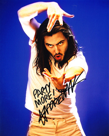 ANDREW W.K. SIGNED 8X10 PHOTO