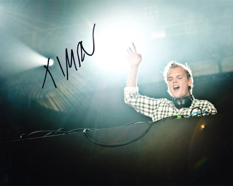 AVICII SIGNED 8X10 PHOTO TIM BERGLING 12