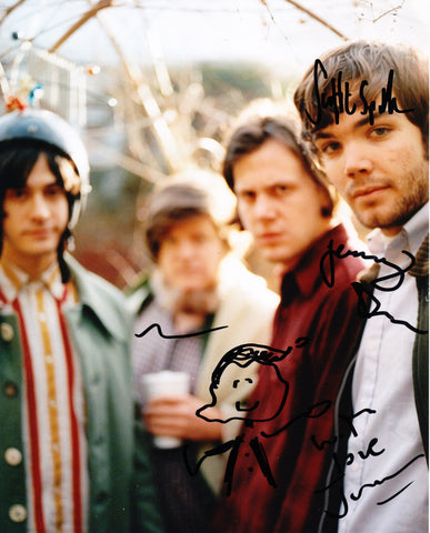 NEUTRAL MILK HOTEL SIGNED 8X10 PHOTO
