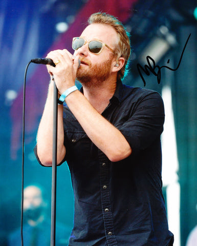 MATT BERNINGER SIGNED THE NATIONAL 8X10 PHOTO 4